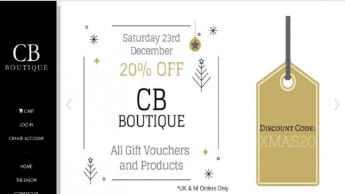 CB Boutique Online Promotions
